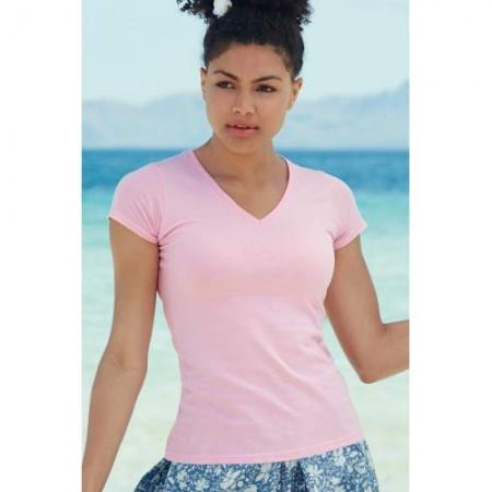 T-paita naisten v-aukko valueweight 13980