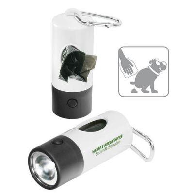 Taskulamppu LED-valolla ja roskapusseilla 7949