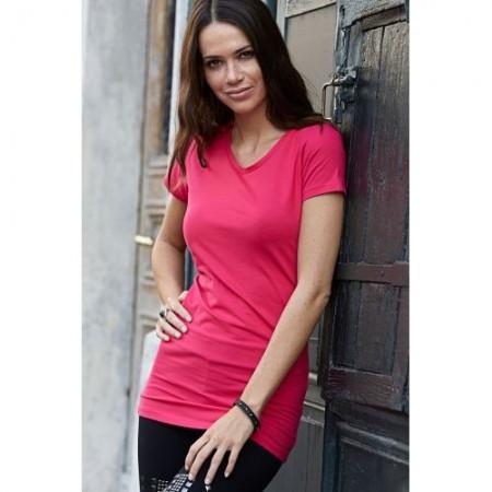 T-paita naisten pitkä stretch T455