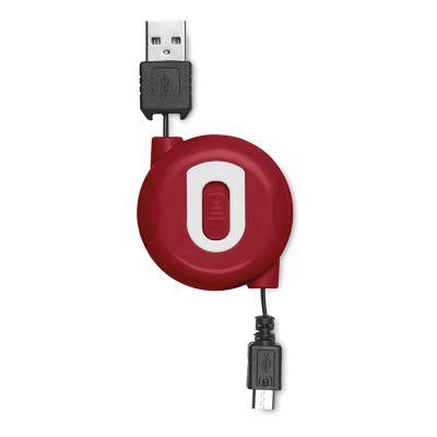 kelautuva USB-kaapeli MO8733 punainen