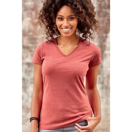 V-aukkoinen naisten t-paita HD J166F