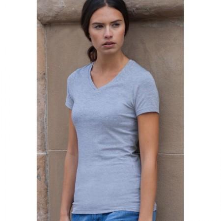 V-aukkoinen naisten t-paita feel good SK122