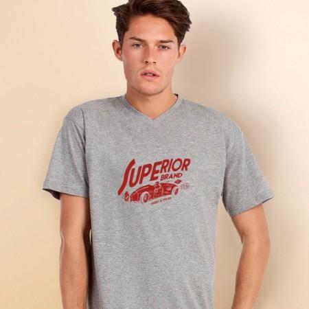 T-paita miesten Exact V-Neck BC0149