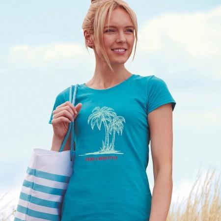 T-paita naisten Original MI-FO1420 kirkkaan sininen2