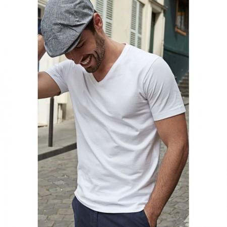 V-aukkoinen miesten t-paita fashoin soft tee T8006