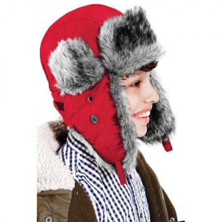 Karvalakki Trapper Sherpa B344B punainen 1
