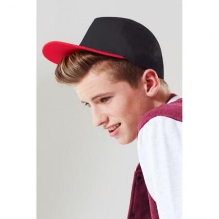 Snapback-lippis B615B musta/punainen 3