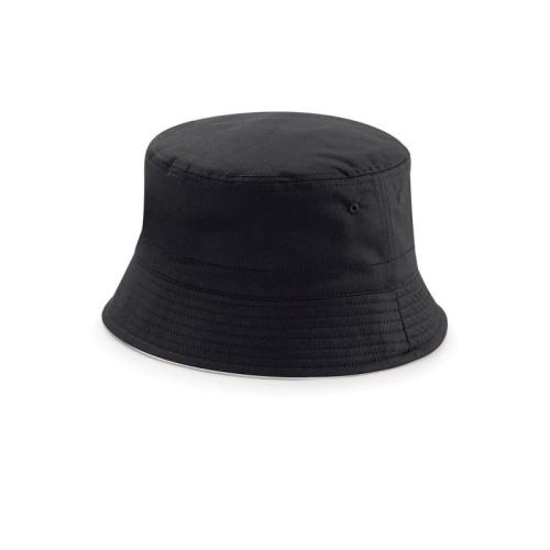 Hattu Bucket hat B686 musta/vaaleanharmaa