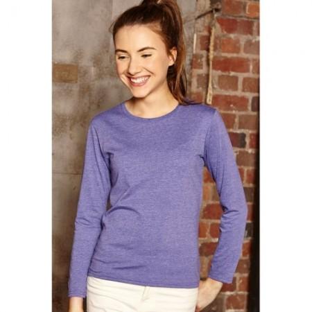 Pitkähihainen paita HD J167G meleerattu violetti 1