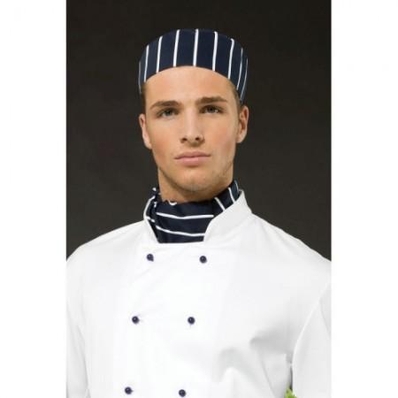 Kokin huivi Chef's PR654 navy/valkoiset raidat 1