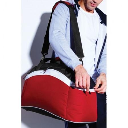 Urheilukassi Teamwear BG572 puna/musta/valko 2