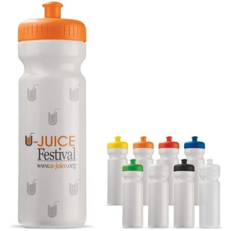 Toppointin suunnittelema laadukas 750ml juomapullo. Saatavana useissa eri väreissä. Sekoittele ja yhdistele värejä haluamallasi tavalla (kansi ja pullo).