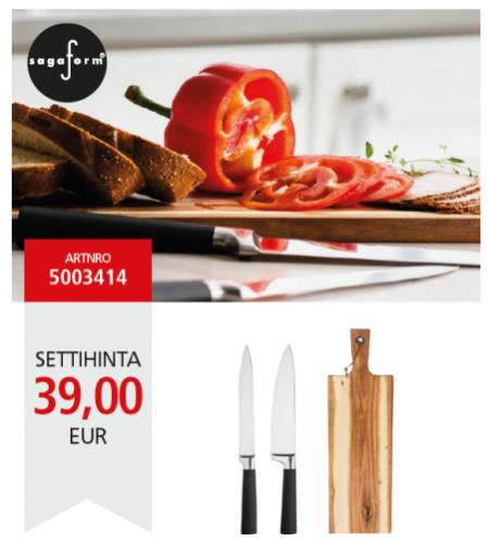 Tämä lahjasetti on tarkoitettu ruoanlaittajalle, joka arvostaa sekä laatua että upeaa muotoilua.