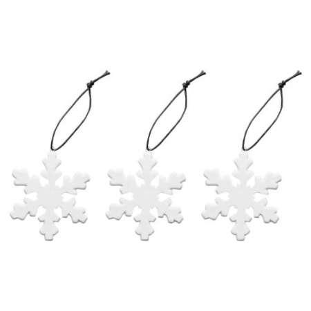 Kivitavarasta valmistetut joulukoriste lumihiutaleet. Ihastuttava ja juhlava lahja kauniissa lahjapakkauksessa. Pakkauksessa kolme lumihiutaleen muotoista koristetta.