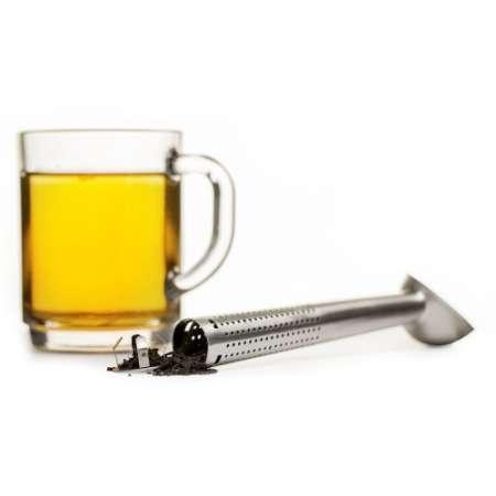 Käytännöllinen ja erilainen yhdistelmä: teemitta, teesiivilä ja -haudutin. Tehty ruostumattomasta teräksestä. Helppo säilyttää ja puhdistaa.