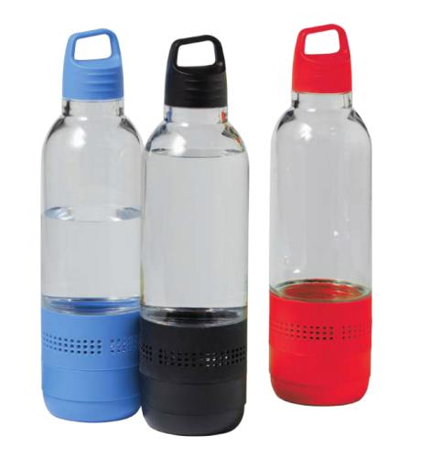 Pullon muotoinen langaton ja vedenpitävä IPX4 kaiutin.