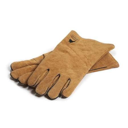 Tyylikkäät grillihanskat, joilla suojaat kätesi grillatessasi, Hanskat on valmistettu laadukkaasta nahasta. Grillikäsineet ovat pakattuna tyylikkääseen laatikkoon.
