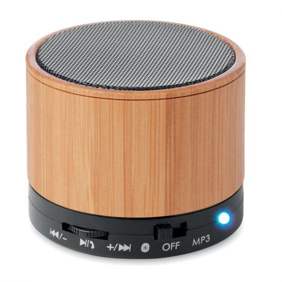 Bluetooth kaiutin Round Bamboo MO9608