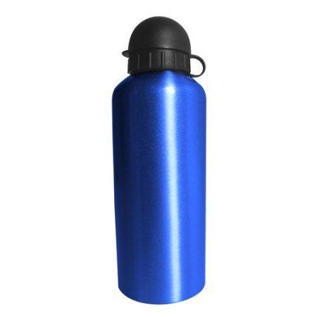 Alumiininen juomapullo, joka on vedenkestävä ja tilavuus 0,5 litraa.
